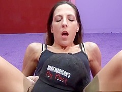 Horny pornstar Marie Madison in fabulous blowjob, brunette adult scene