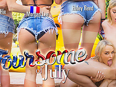 Emma Hix & Haley Reed & Morgan Lee in Foursome of July - WankzVR