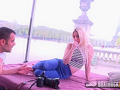 Blonde Jessie Volt gets Fucked in Front of the Eiffel Tower