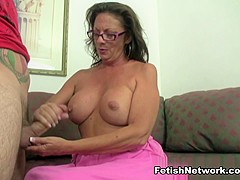 Amazing pornstar in Incredible Handjobs, Mature adult movie