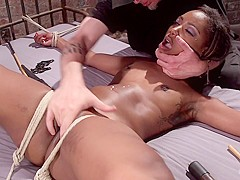 Chanell Heart & The Pope in Ebony Super Slut In Tight Bondage, Grueling Punishment, And Mind Blowing