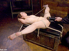Moriel in Amateur Casting Couch: Moriel; From The Club To The Couch - HogTied