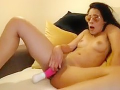 Hot college girl getting crazy high orgasm