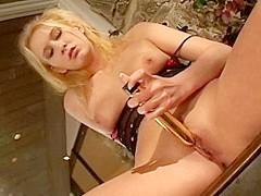 Incredible pornstar Trinity James in hottest blonde, dildos/toys porn clip
