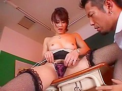 Incredible Japanese whore Natsumi Horiguchi in Fabulous Masturbation/Onanii, Stockings/Pansuto JAV c