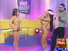 Babes Naked on TV Game