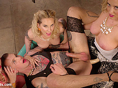 Maitresse Madeline Marlowe & Will Havoc & Cherry Torn & Mz Berlin in Beauty School Dropout - DivineB