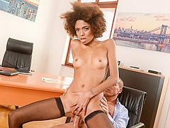 Luna Corazon & Matt Bird in Interracial Office Orgasm, Scene #01 - 21Sextury
