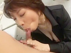 Amazing Japanese chick Natsuki Mochida in Incredible Big Tits, Stockings/Pansuto JAV clip