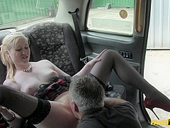Incredible pornstars in Amazing Stockings, Blonde sex movie