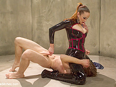 Bella Rossi & Sam Solo in Bella Breaks In A New Toy At The Divine Bitches Milking Facility - DivineB