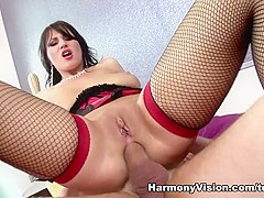 Best pornstar Roxy Taggart in Incredible Stockings, Brunette adult clip