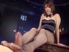 Horny Japanese chick Himari Wakana in Amazing Lingerie, Handjobs JAV video