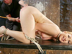 Sophia Locke & The Pope in Warning Extreme Torment, Water Boarding, And Brutal Bondage - HogTied