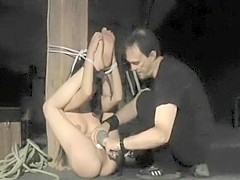 Dark Hair Beauty Spanked And Tied Up-50 Shades Of Grey Style