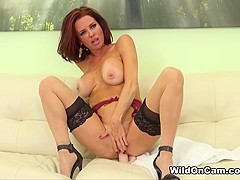 Hottest pornstar Veronica Avluv in Fabulous Redhead, Dildos/Toys porn movie