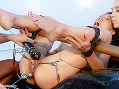 Tia Ling & Ariel X & Chanel Preston in Little Electro Anal Slut - Electrosluts