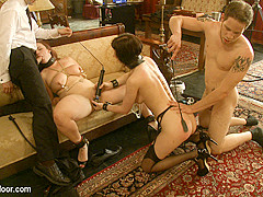 Cherry Torn & Bella Rossi & Wolf Hudson in Service Session: Wolf In The House - TheUpperFloor