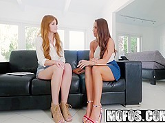 Mofos - Girls Gone Pink - Abigail Mac Miley Cole - Lesbian Roommate Interview