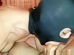 Masked Wife Sucks And Deep Throats Dick