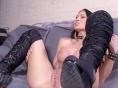 Sexual German Chick in Sexy Boots Pleases Her Man!