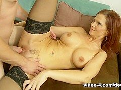 Hottest pornstars Syren DeMer, Syren de Mer in Crazy MILF, Stockings sex movie