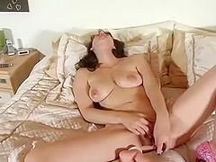 Exotic Homemade clip with Toys, Brunette scenes