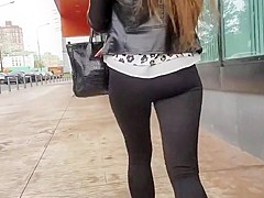 nice girls ass in tight pants