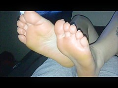 Horny homemade Interracial, Foot Fetish porn scene