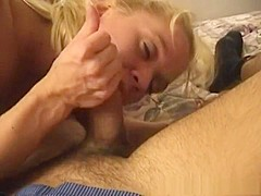 Best pornstar in amazing blonde, blowjob sex movie