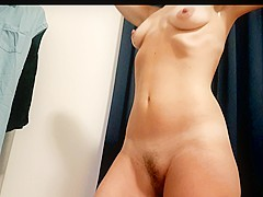 Hidden camera - hot MILF taking off her underwear