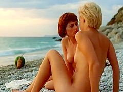 Crazy homemade Lesbian, Outdoor sex scene