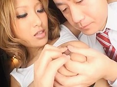 Horny Japanese whore in Amazing Lingerie, Cunnilingus JAV clip