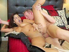 Incredible pornstar Charity Bangs in crazy blowjob, hardcore adult movie
