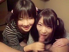 Horny Japanese girl in Exotic Threesomes, Girlfriend JAV clip