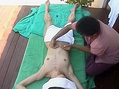 My wife receives a nice Thai therapy and has her pubis fingered