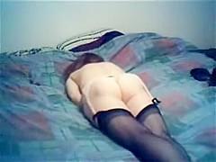 Sexy wife masturbates in the bedroom