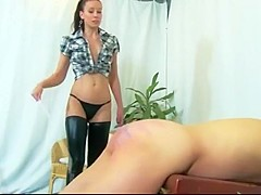 Brutal whipping and caning punishment from hot mistress