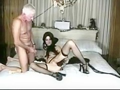 Vampire slut fucks old man