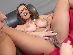 Best pornstars Persia Monir and Bonnie Skye in hottest brunette, masturbation xxx scene