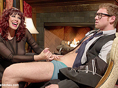 Maitresse Madeline Marlowe & Connor Maguire in Femdom Edging, Teasing And Prostate Milking Test Shoo