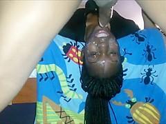 Horny Ebony Babe Fucked In The Mouth