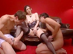 Incredible Japanese model Yuria Ashina in Best Threesomes, Stockings/Pansuto JAV video
