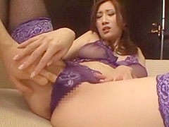 Crazy Japanese chick Julia in Incredible Lingerie, Threesomes JAV scene