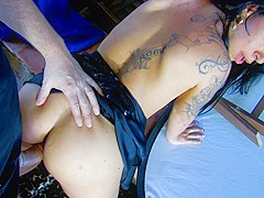Lidya Rouge & Terry in Hot Latina Slut With Big Round Ass Fucked By The Pool - MMM100