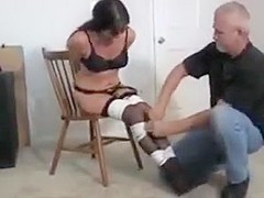 Milf grabbed and chair tied