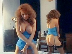 Rock the boat - vintage 80  redhead stockings tease