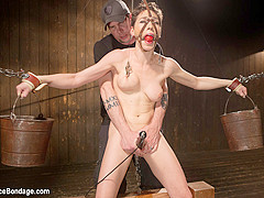 Lily LaBeau in Lily Labeau Gets Destroyed By Grueling Predicament Bondage And Made To Cum Against He