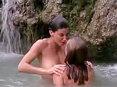 Skinny dipping girls in a sexy Hollywood movie