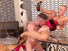 Horny pornstar in best blonde, lingerie adult movie